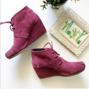 Toms Shoes - TOMS Suede Desert Wedge Ankle Boot